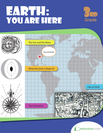 Third Grade Science Workbooks: Earth: You Are Here