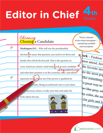 Fourth Grade Reading & Writing Workbooks: Editor in Chief
