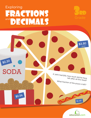 Third Grade Math Workbooks: Exploring Fractions & Decimals