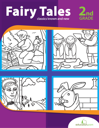 Second Grade Reading & Writing Workbooks: Fairy Tales: Classics Known and New
