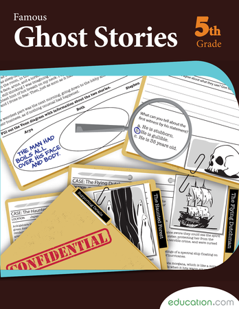 Fifth Grade Reading & Writing Workbooks: Famous Ghost Stories
