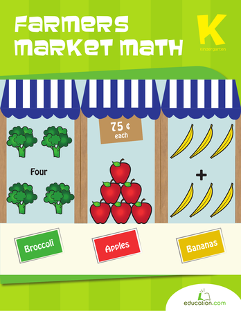 Kindergarten Math Workbooks: Farmers Market Math