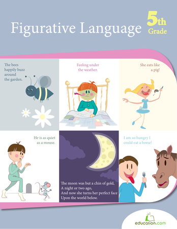 Fifth Grade Reading & Writing Workbooks: Figurative Language