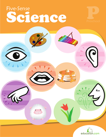 Preschool Reading & Writing Workbooks: Five-Sense Science