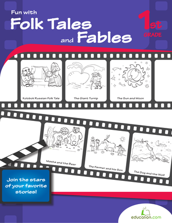 First Grade Coloring Workbooks: Fun with Folk Tales and Fables