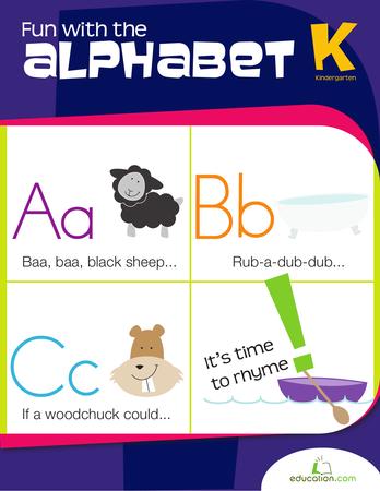 Kindergarten Reading & Writing Workbooks: Fun with the Alphabet