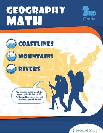 Third Grade Reading & Writing Workbooks: Geography Math