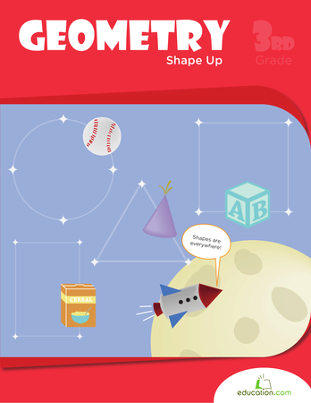 Third Grade Math Workbooks: Geometry Shape Up