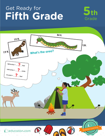 Get Ready For Fifth Grade Workbook Education