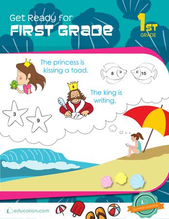 math worksheet : first grade workbooks  education  : First Grade Workbooks