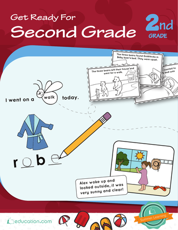 Second Grade Reading & Writing Workbooks: Get Ready for Second Grade