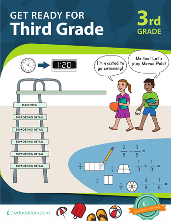 Third Grade Math Workbooks: Get Ready for Third Grade