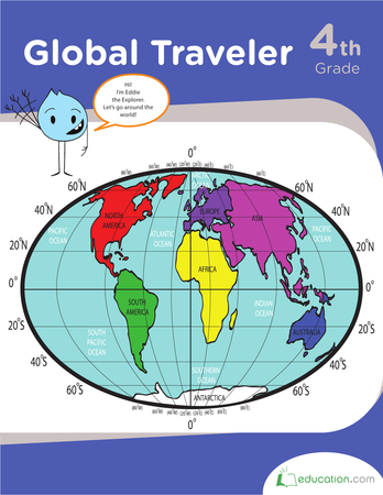 Fourth Grade Social Studies Workbooks: Global Traveler