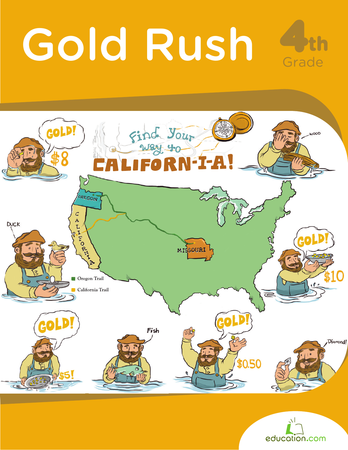 Fourth Grade Reading & Writing Workbooks: Gold Rush