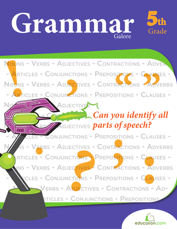 Fifth Grade Reading & Writing Workbooks: Grammar Galore