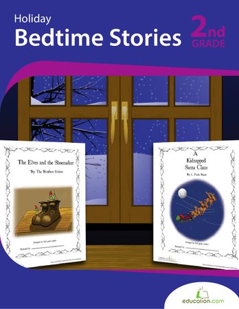 Second Grade Reading & Writing Workbooks: Holiday Bedtime Stories