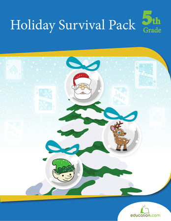 Fifth Grade Math Workbooks: Holiday Survival Pack