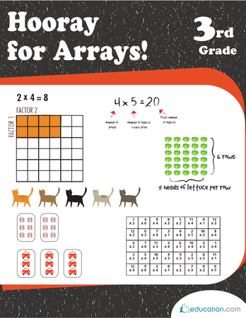 Third Grade Math Workbooks: Hooray for Arrays