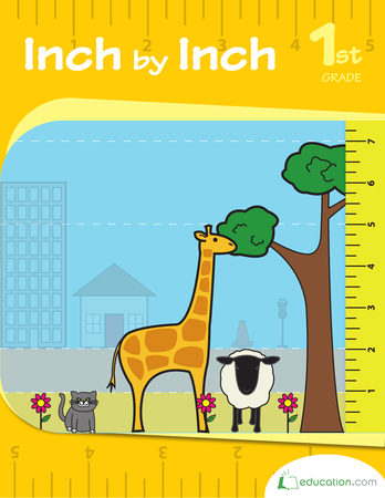 First Grade Math Workbooks: Inch by Inch