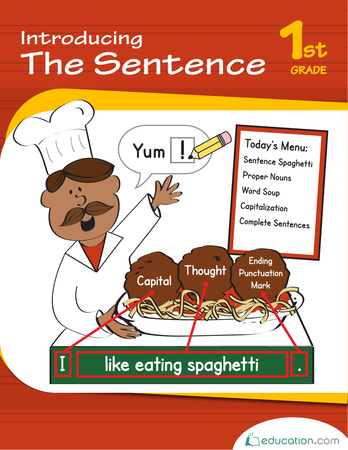 First Grade Reading & Writing Workbooks: Introducing the Sentence
