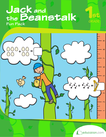 First Grade Reading & Writing Workbooks: Jack and the Beanstalk Fun Pack