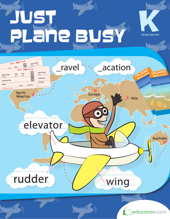 Kindergarten Reading & Writing Workbooks: Just Plane Busy