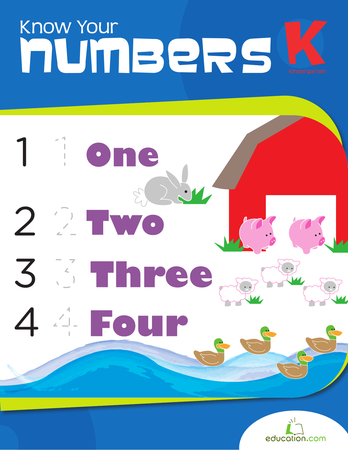 Kindergarten Reading & Writing Workbooks: Know Your Numbers