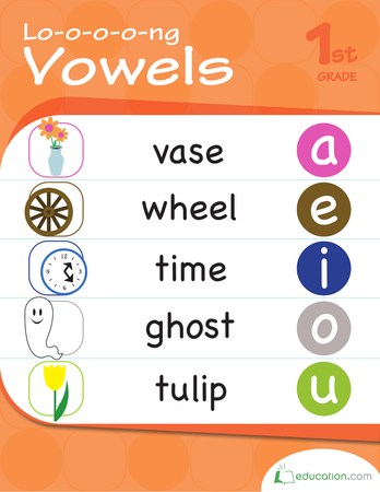 First Grade Reading & Writing Workbooks: L-o-o-o-o-ng Vowels