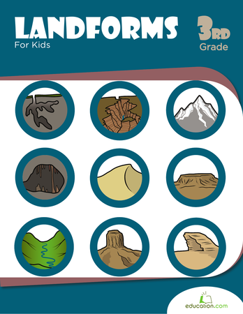 Third Grade Reading & Writing Workbooks: Landforms For Kids