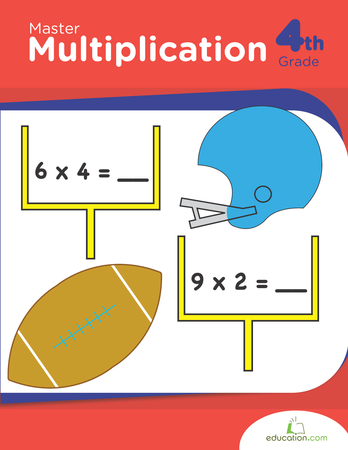 Fourth Grade Math Workbooks: Master Multiplication