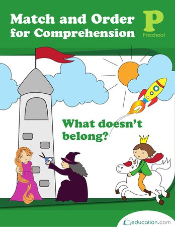 Preschool Math Workbooks: Match and Order for Comprehension