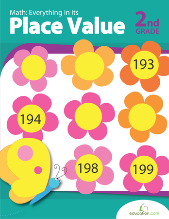 Second Grade Math Workbooks: Math: Everything in its Place Value