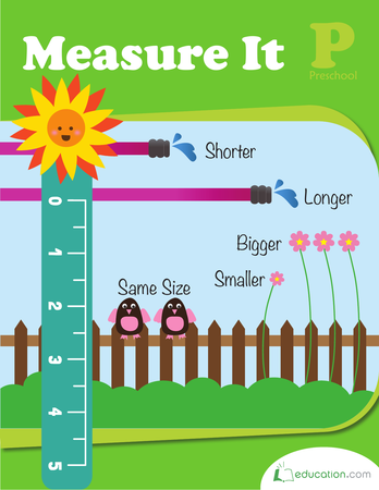 Preschool Math Workbooks: Measure It