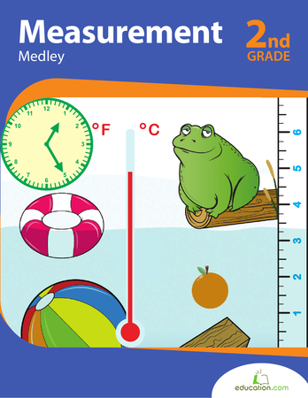 Second Grade Math Workbooks: Measurement Medley