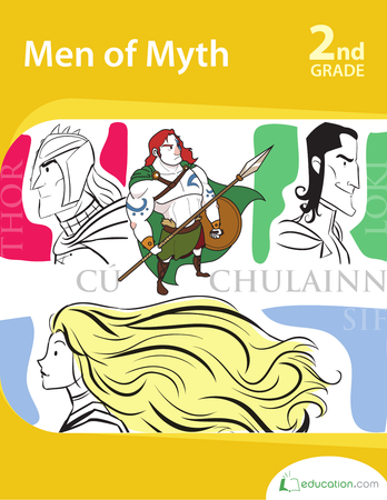 Second Grade Reading & Writing Workbooks: Men of Myth