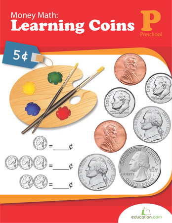 Preschool Math Workbooks: Money Math: Learning Coins