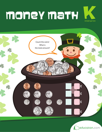 Kindergarten Math Workbooks: Money Math