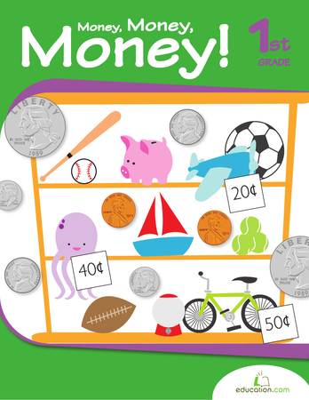 First Grade Math Workbooks: Money, Money, Money!