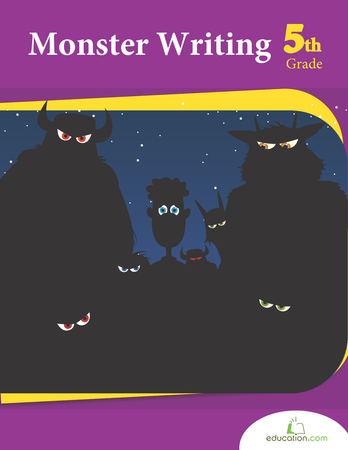 Fifth Grade Reading & Writing Workbooks: Monster Writing