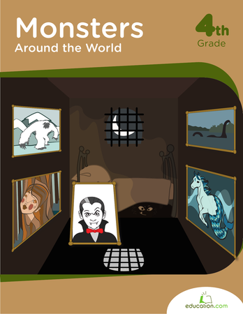 Fourth Grade Reading & Writing Workbooks: Monsters Around the World