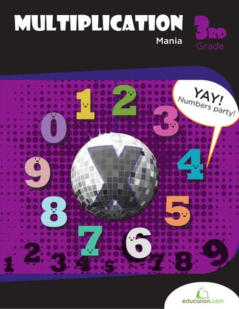 Third Grade Math Workbooks: Multiplication Mania