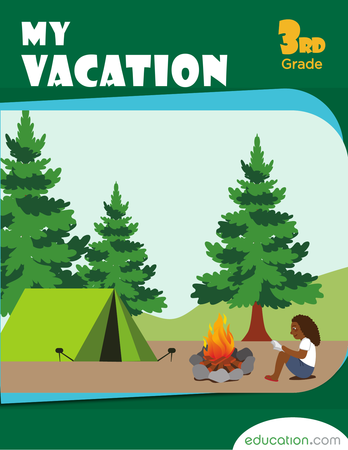 Third Grade Reading & Writing Workbooks: My Vacation