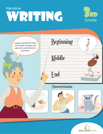 Third Grade Reading & Writing Workbooks: Narrative Writing