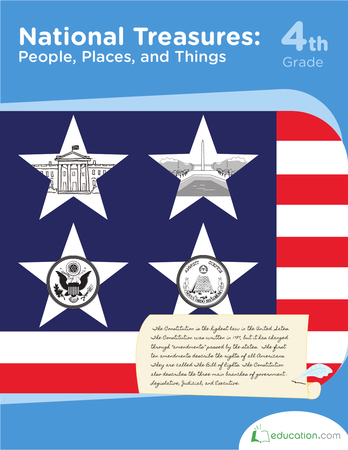 Fourth Grade Reading & Writing Workbooks: National Treasures: People, Places, and Things