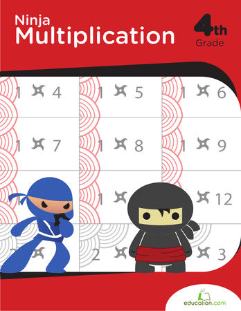 Fourth Grade Math Workbooks: Ninja Multiplication