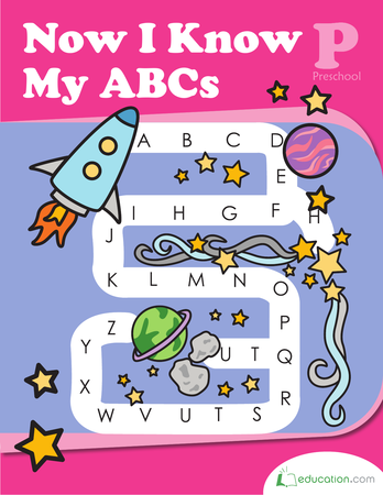Preschool Reading & Writing Workbooks: Now I Know My ABCs