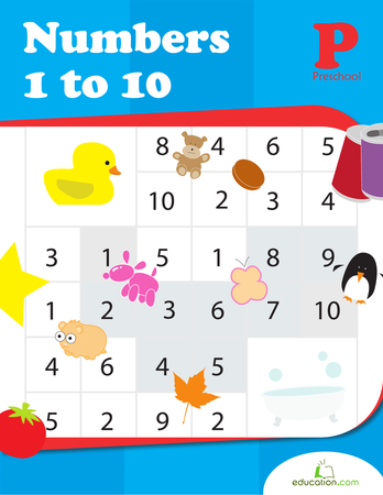 Preschool Math Workbooks: Numbers 1 to 10
