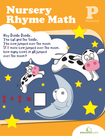 Preschool Reading & Writing Workbooks: Nursery Rhyme Math