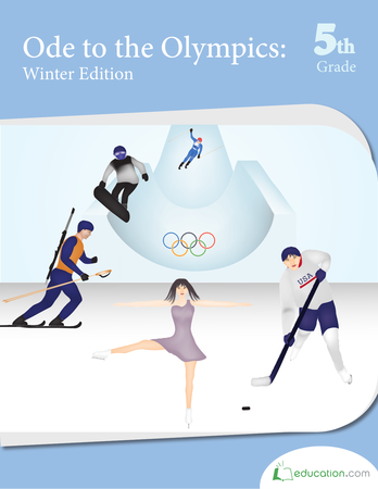 Fifth Grade Reading & Writing Workbooks: Ode to the Olympics: Winter Edition
