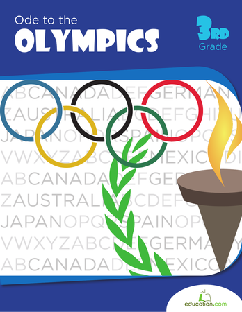 Third Grade Reading & Writing Workbooks: Ode to the Olympics